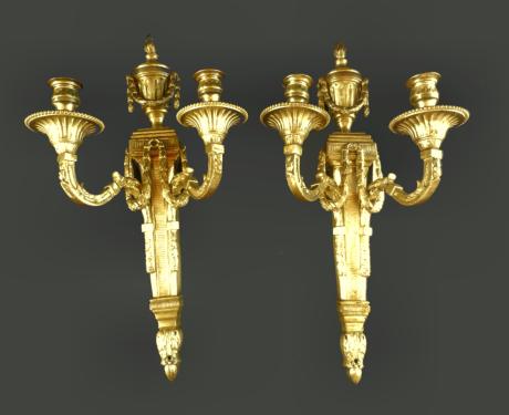 Empire leuchter paar kerzenleuchter groß leuchter empire bronze